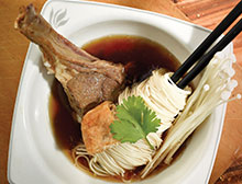 Lamb Rack Bak Kut Teh With Somen & Enoki