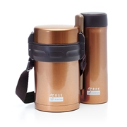 $39.90 PWP: Insulated Thermo Gold Lunch box & Tumbler Set