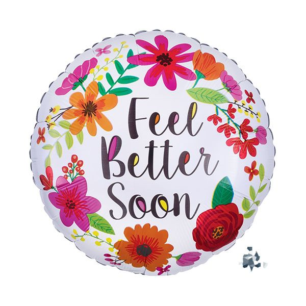 Feel Better Soon Floral Balloon