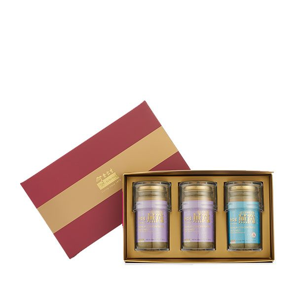 Premium Concentrated Bird's Nest 150g Maroon Gift Set of 3 - 2 x Rock Sugar & 1 x Reduced Sugar