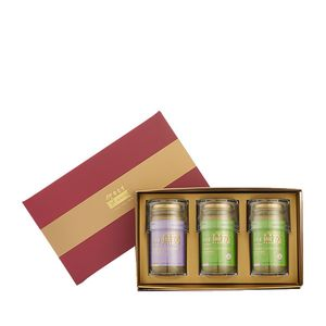 Premium Concentrated Bird's Nest 150g Maroon Gift Set of 3 - 2 x Sugar Free & 1 x Rock Sugar