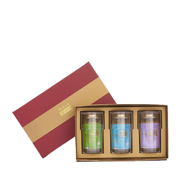 Premium Concentrated Bird's Nest 150g Maroon Gift Set of 3 - 1 x Reduced Sugar & 1 x Rock Sugar & 1 Sugar Free