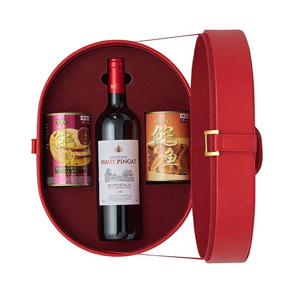 Red Hat 1 - Connoisseur's New Zealand Abalone & Wine CNY Gift Tote
