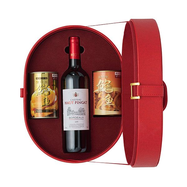 Red Hat 2 - Connoisseur's Mexican Abalone & Wine Gift Tote