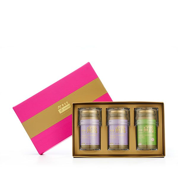 Premium Concentrated Bird's Nest 150g Hot Pink Gift Set of 3 - 2 x Rock Sugar & 1 x Sugar Free
