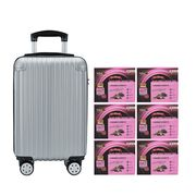Black Boned Chicken Tonic BaZhen and Collagen 6'S Silver Luggage Set