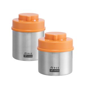 Vacuum Canister Bundle 700ml and 1000ml (Orange)
