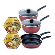 Palace Grande Abalone & Fragrant Chicken Treasure Pot (Peng Cai) Twin Bundle with Carbon Steel