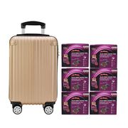 Black Boned Chicken Tonic with DuZhong Baji 6'S Gold Luggage Set