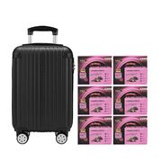 Black Boned Chicken Tonic BaZhen and Collagen 6'S Black Luggage Set