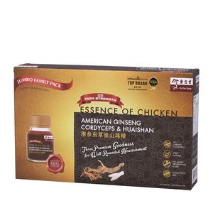 Jumbo Family Pack - Essence Of Chicken With American Ginseng, Cordyceps & Huaishan 10'S 泡参虫草淮山鸡精