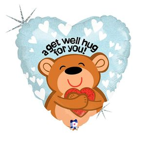 A Beary Get Well Soon Balloon