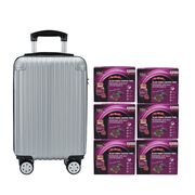 Black Boned Chicken Tonic with DuZhong Baji 6'S Silver Luggage Set