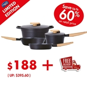 Bountiful Feast Cookware Set A: 4pcs (worth $395.60)